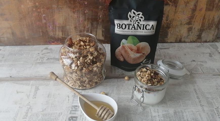 Вкуснейшая гранола с орехами, пошаговый рецепт с фото