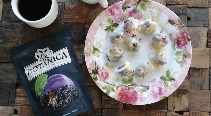 Конфеты Чернослив в белом шоколаде, пошаговый рецепт с фото