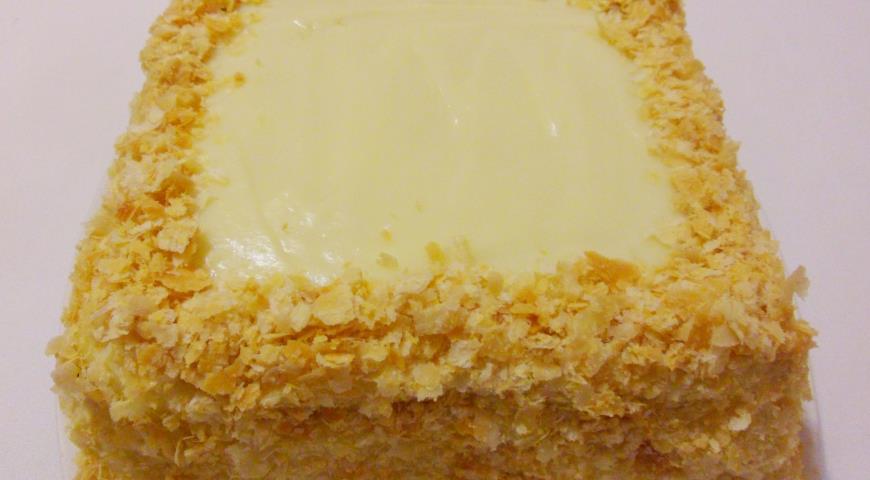 Торт Наполеон из готового слоеного теста, пошаговый рецепт с фото