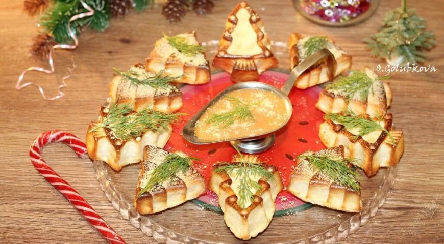 Мясное суфле с горчичным соусом 4
