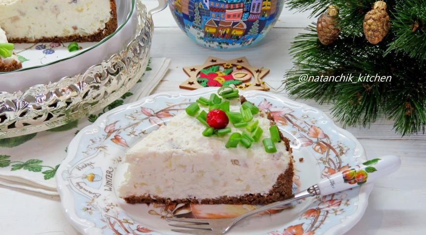 Творожный тарт с селедкой , пошаговый рецепт с фото