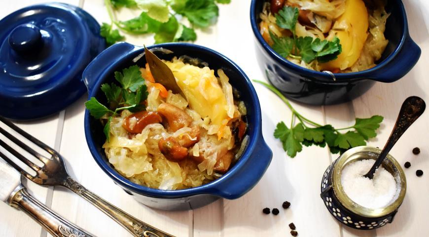 Постный бигос с грибами, пошаговый рецепт с фото