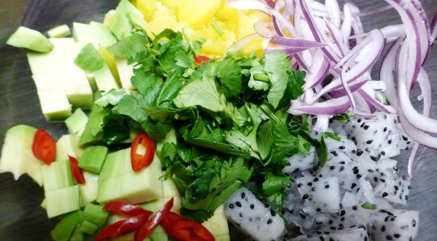Фруктовая сальса с питахайей , пошаговый рецепт с фото