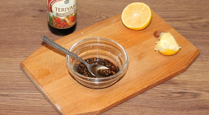 Голень индейки в соусе терияки, пошаговый рецепт с фото