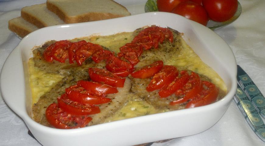 Рыба с овощами и сыром, пошаговый рецепт с фото