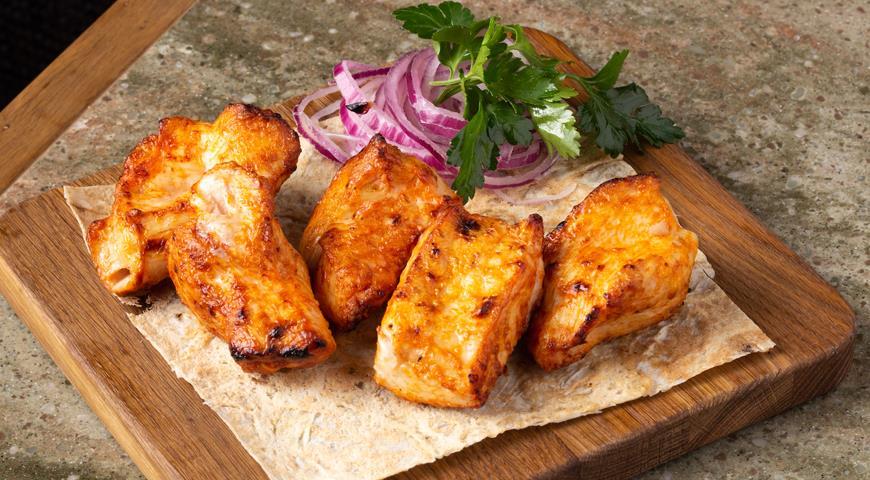 Медово-горчичный куриный шашлык, пошаговый рецепт с фото