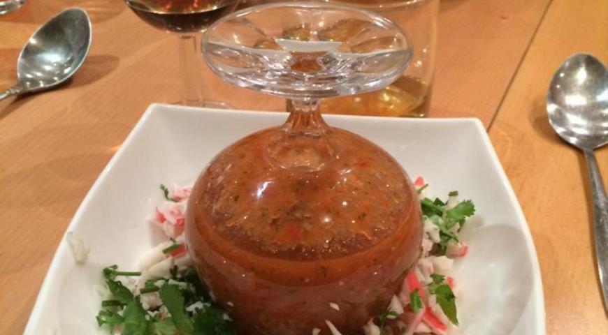 Гаспачо с крабом, пошаговый рецепт с фото