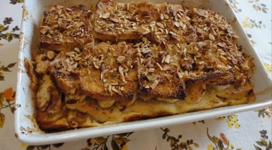 Хлебный яблочный пудинг по-крестьянски , пошаговый рецепт с фото