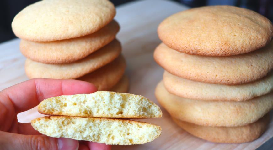 Бесподобное бисквитное печенье всего из 3 ингредиентов, пошаговый рецепт с фото