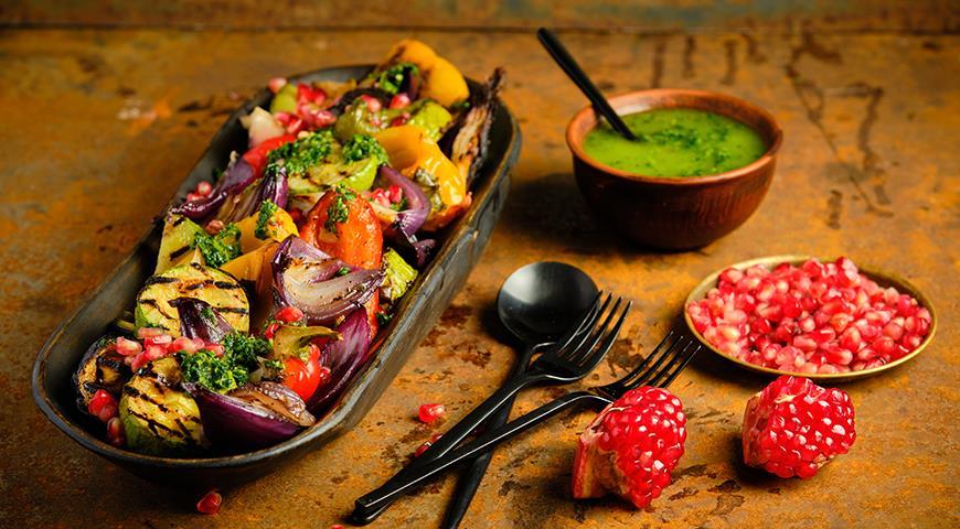 Овощи на барбекю, пошаговый рецепт с фото