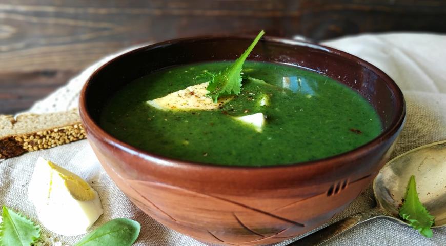 Суп-пюре с крапивой, пошаговый рецепт с фото