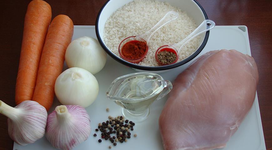 Плов из индейки, пошаговый рецепт с фото