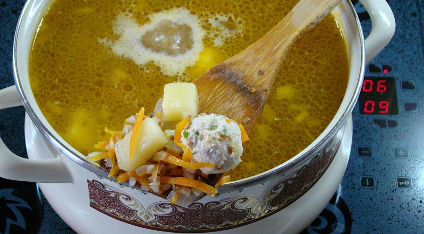 Суп с фрикадельками и гречкой, пошаговый рецепт с фото
