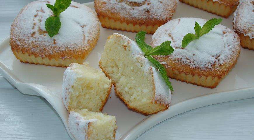 Творожные кексы с манкой, пошаговый рецепт с фото