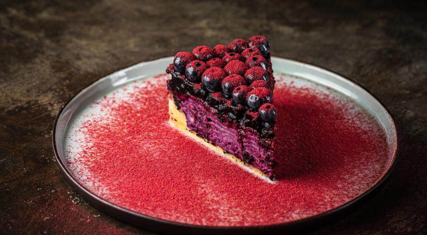 Торт с черникой и голубикой, пошаговый рецепт с фото