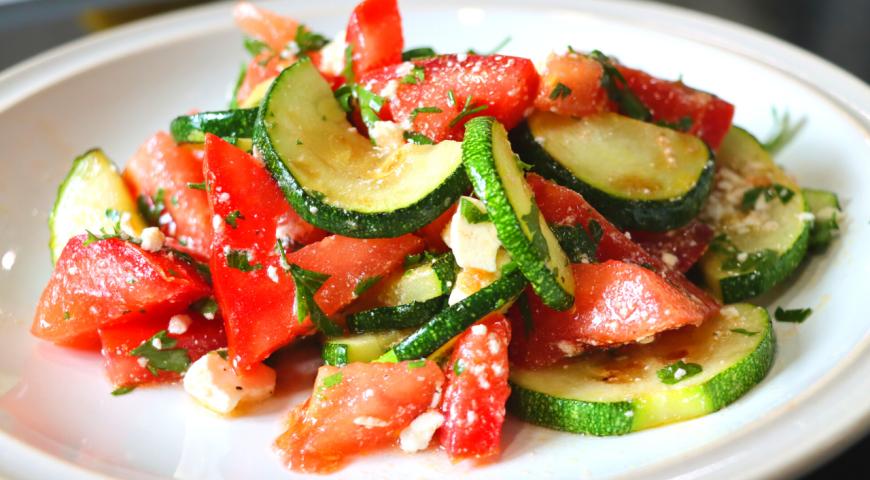 Быстрый салат из кабачков за 5 минут, пошаговый рецепт с фото