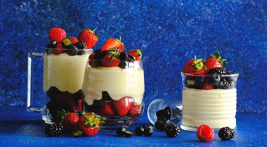 Мусс из манной каши с ягодами, пошаговый рецепт с фото