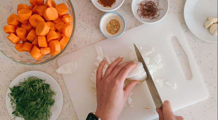 Морковный суп с кокосовым молоком, пошаговый рецепт с фото