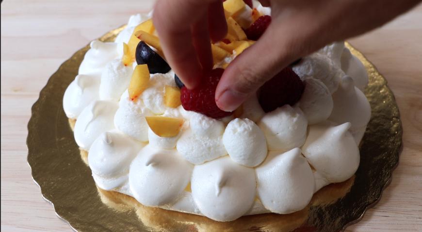 Летний и легкий торт Павлова, вкуснейший десерт Павлова, пошаговый рецепт с фото