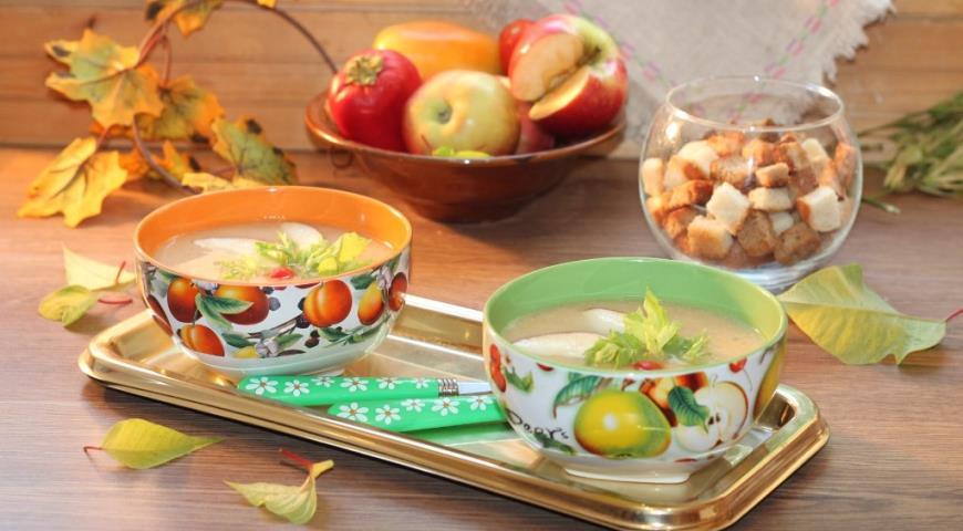 Нежный суп-пюре из индейки , пошаговый рецепт с фото
