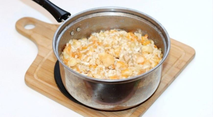 Запеченные яблоки с курицей и рисом, пошаговый рецепт с фото