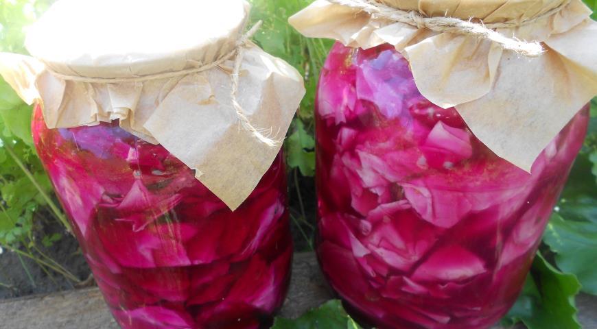 Красная капуста на зиму, пошаговый рецепт с фото