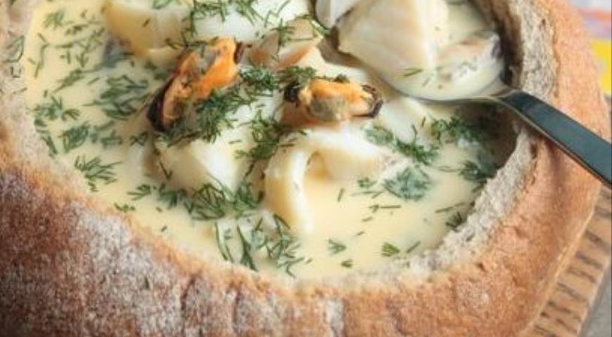 Исландский сливочный суп в хлебе, пошаговый рецепт с фото