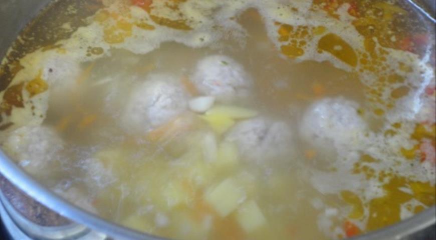 Сливочный суп с фрикадельками, пошаговый рецепт с фото