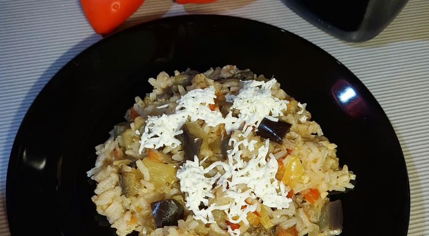 Рис с баклажанами, пошаговый рецепт с фото