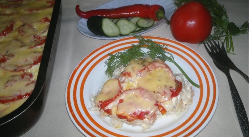 Запеканка из цветной капусты с помидорами, пошаговый рецепт с фото