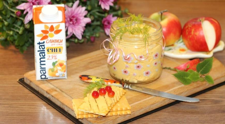 Сливочный паштет с курицей и овощами, пошаговый рецепт с фото