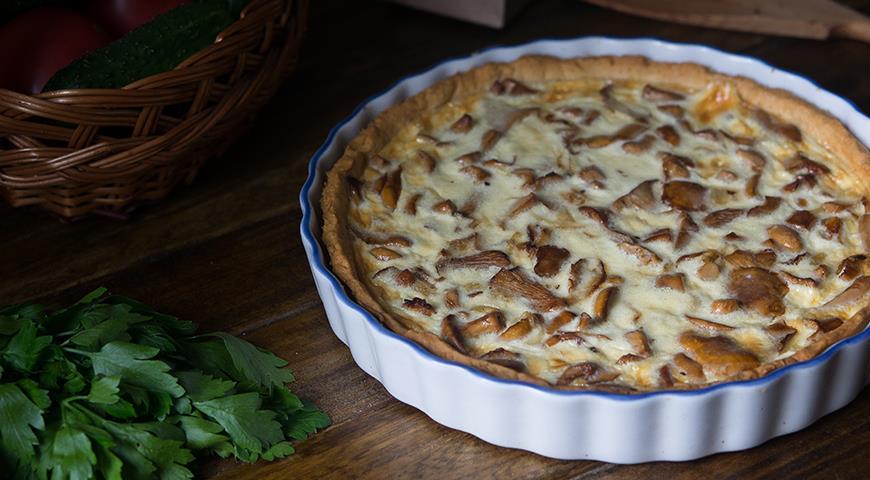 Пирог с лисичками , пошаговый рецепт с фото