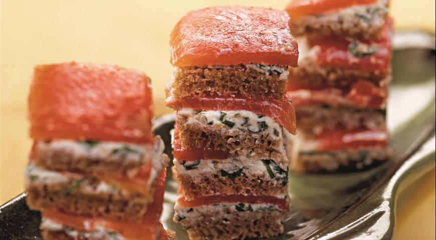Рецепт Закуска из копченого лосося
