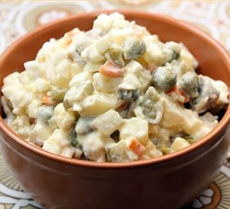 поэтапные картинки рецепта салата оливье
