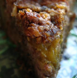 Рецепт Ореховый пирог со сливами