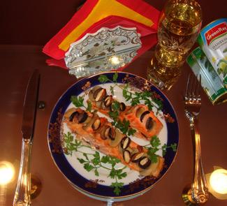 Рецепт Красная рыба по-испански (Los peces cartilogineos en espanol)