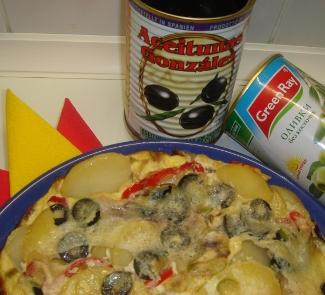 Рецепт Испанский картофельно-оливковый омлет(La tortilla espanola kartofelno-aceitunada)