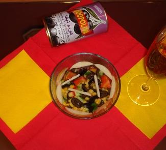 Рецепт Испанский салат с маслинами и кукурузой (La ensalada espanola con las aceitunas y el maiz)