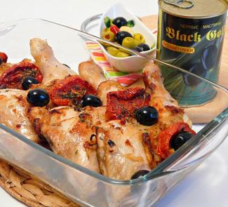 Рецепт Куриные окорочка с маслинами (кухня Арагона)