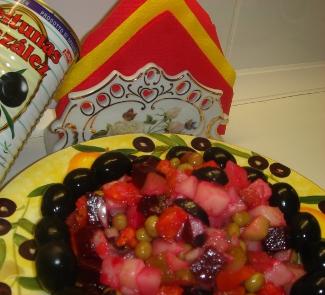 Рецепт Винегрет Со стола Дон-Кихота (El vinegret «de la mesa el Don-Kihota»)