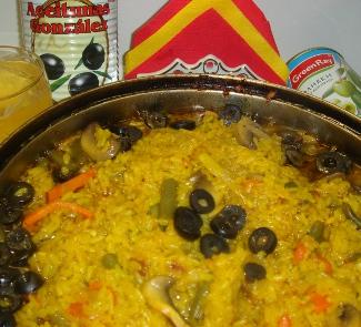 Рецепт Овощная паэлья с маслинами (De hortalizas paella con las aceitunas )