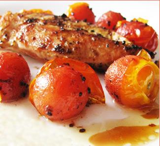 Рецепт Куриная грудка с помидорами черри