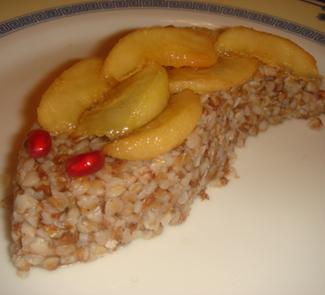 Рецепт Гречка с корицей и грушей в сиропе