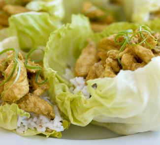 Рецепт Куриный салат с рисом и карри