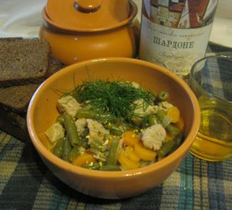 Рецепт Свиное рагу с овощами. Свинья в Шардоне