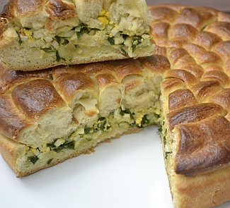 Рецепт Оригинальный пирог с классической начинкой
