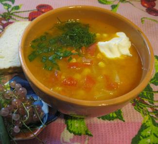 Рецепт Овощной суп со смородиной