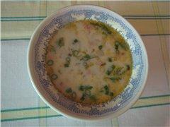 Рецепт Суп из кольраби с сосисками