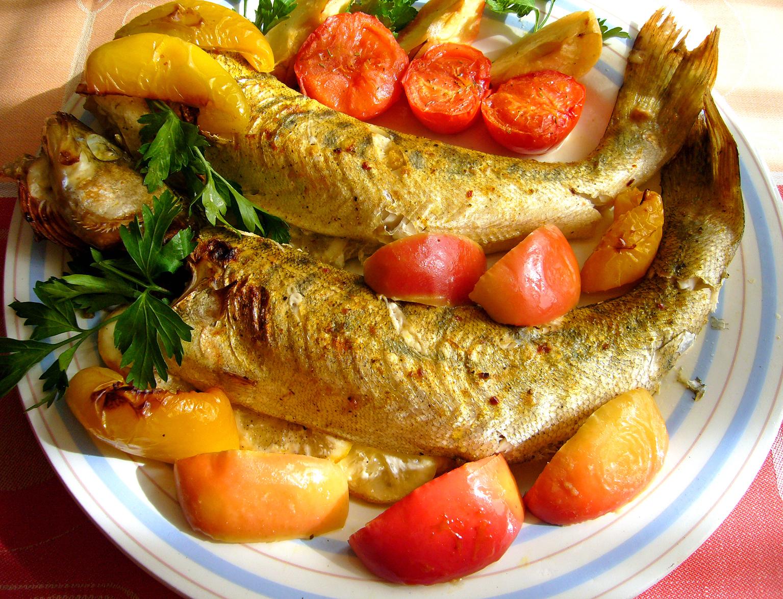 Рецепт Судак, запечённый с овощами