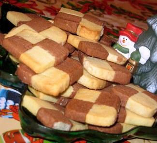 Рецепт Печенье Двухцветное сабле